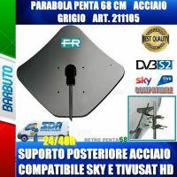 PARABOLA 68 CM IN ACCIAIO PENTA FRACARRO GRIGIO SUPPORTO POSTER. ACCIAIO 211105
