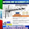 ANTENNA UHF 50 ELEMENTI LTE SIMILARE ANT420F BLU420F BLU10HD LTE 18dB