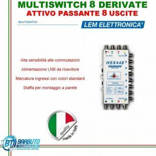 MULTISWITCH AD 8 USCITE ATTIVO REGOLABILE MARCA LEM ELETTRONICA MODELLO HSX448