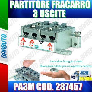 PARTITORE 3 USCITE A MORSETTI E MOLLA SAT E TERRESTRE FRACARRO PA3M COD. 287457