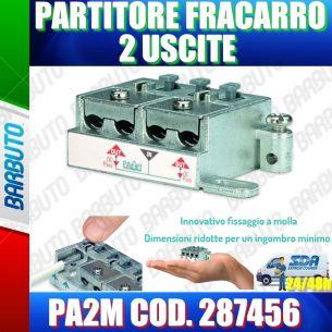 PARTITORE 2 USCITE A MORSETTI E MOLLA SAT E TERRESTRE FRACARRO PA2M COD. 287456