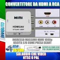CONVERTITORE DA HDMI A RCA AV COMPOSITE CVBS CON AUDIO STEREO