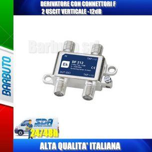 DERIVATORE CON CONNETTORI F 2 USCITE VERTICALE -12dB EK DF212