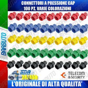 100 CONNETTORI A PRESSIONE CAPS VARIE COLORAZIONI ALTA QUALITA' TELECOM & SECURITY
