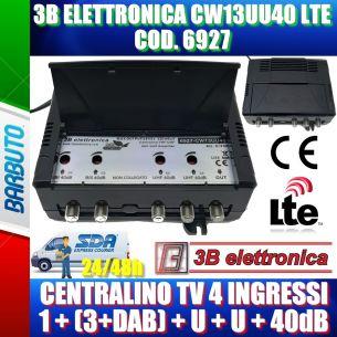 3B ELETTRONICA 6927 LTE CENTRALINO TV 1,3+DAB,U,U 40dB MODELLO CW13UU40 LTE