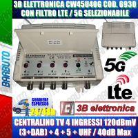 3B ELETTRONICA 6930 CENTRALINA TV III-IV-V-UHF 40dB MODELLO CW345U40G LTE/5G