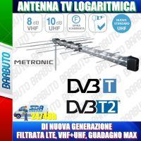 ANTENNA TV LOGARITMICA DI NUOVA GENERAZIONE, FILTRATA LTE, VHF+UHF, GUADAGNO MAX