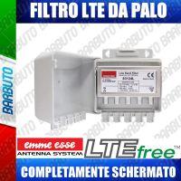 FILTRO LTE DA PALO 47-790Mhz PASSIVO CON CONNESSIONI F FEMMINA TEF/LTE