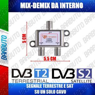MIX / DEMIX - TV / SAT DA INTERNO - PRESSOFUSIONE A BASSA PERDITA GT-CSTV1