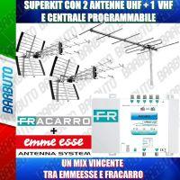SUPERKIT PER IMPIANTI CENTRALIZZATI 2 ANTENNE UHF + 1 VHF - 45WSL + 6W3DG + 287523
