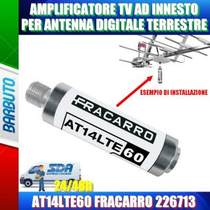 AMPLIFICATORE TV AD INNESTO PER ANTENNA TERRESTRE AT14LTE60 FRACARRO 226713