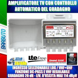 AMPLIFICATORE TV CON CONTROLLO AUTOMATICO DEL GUADAGNO AGC EMME ESSE 83516AG