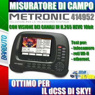 MISURATORE DI CAMPO H265 HEVC 10bit HD DVB-S/S2 DVB-T/T2 METRONIC 414952