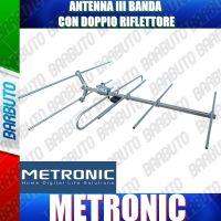 ANTENNA VHF YAGI III BANDA TV PRODUZIONE METRONIC MODELLO 425084