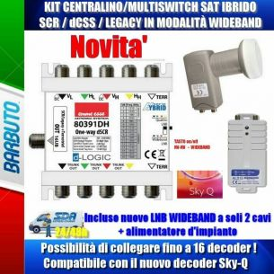 CENTRALINO MULTISWITCH SAT SCR / dCSS + LNB WIDE BAND + ALIMENTATORE + TERRESTRE