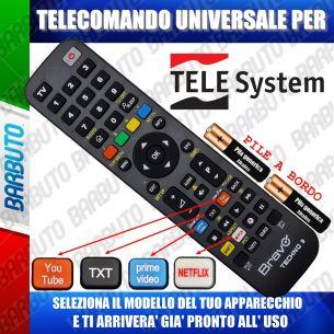 TELECOMANDO UNIVERSALE TECHNO PER TELESYSTEM SCEGLI IL MODELLO DEL TUO APPARECCHIO DALL'ELENCO E LO RICEVERAI GIA PRONTO
