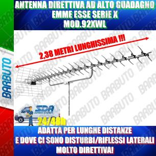 ANTENNA DIRETTIVA AD ALTO GUADAGNO LUNGA OLTRE 2 METRI EMMEESSE 92XWL