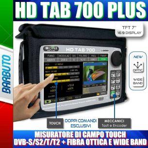 MISURATORE DI CAMPO ROVER HD TAB 700 PLUS FIBRA OTTICA TOUCH WIDE BAND DVB-T2/S2 EVOLUTO CON BATTERIA MAGGIORATA