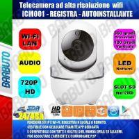 TELECAMERA SMARY IP WIFI HD VISUALIZZABILE E MUOVIBILE DA SMARTPHONE