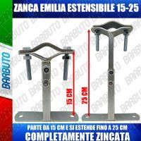 ZANCA TIPO EMILIA 15/25 CM TELESCOPICA REGOLABILE STAFFA X ANTENNA-MADE IN ITALY