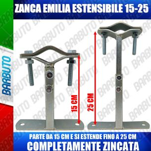 ZANCA TIPO EMILIA 15/25 CM TELESCOPICA REGOLABILE STAFFA X ANTENNA-MADE IN ITALY