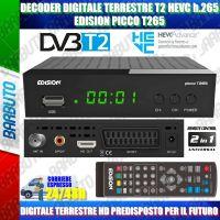 DECODER DIGITALE TERRESTRE T2 HEVC h.265 HD PREDISPOSTO PER IL FUTURO EDISION PICCO T265