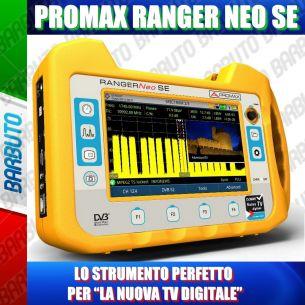 """PROMAX RANGER NEO SE (TOUCH - HEVC H.265 - LNB WIDEBAND) IL MISURATORE DI CAMPO PERFETTO PER """"LA NUOVA TV DIGITALE"""""""