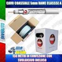 CAVO TV 5mm CLASSE A RAME 150MT PER SAT E TERRESTRE SVOLGICAVO INCLUSO SPEEDY5